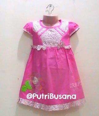 putri busana | dress pesta polkadot