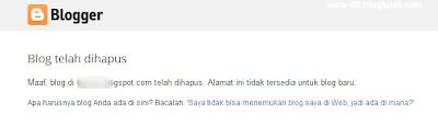 Blog dihapus blogger