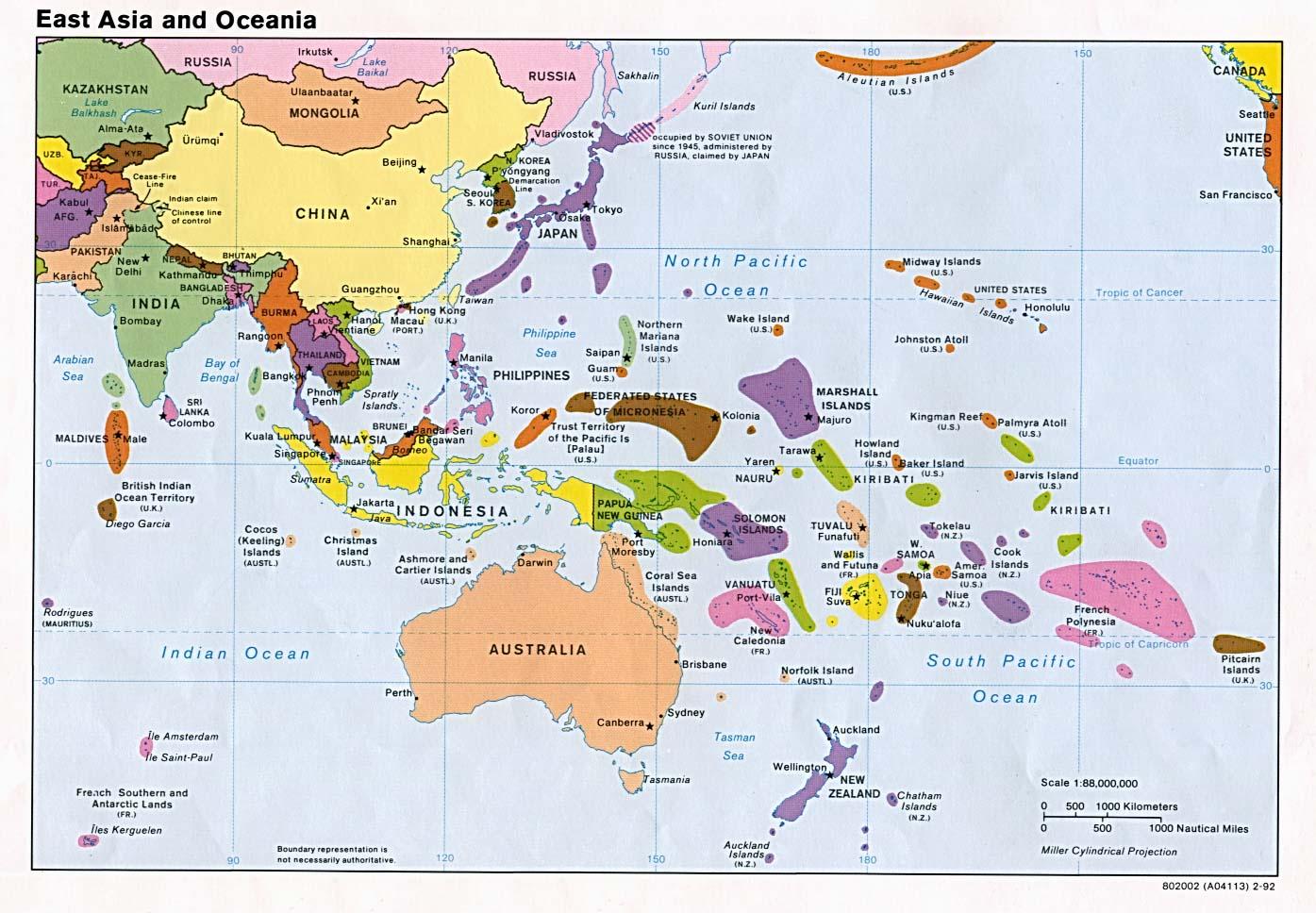 Oceana Divisin Poltica  Ciencia Geogrfica