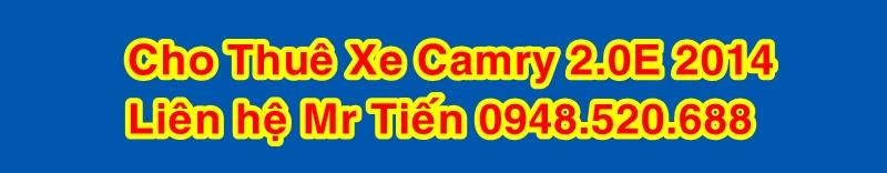 Cho Thuê Xe Camry Có Lái Giá 8.000 VNĐ/Km