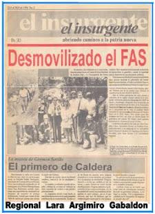 Desmovilización Frente Américo Silva (FAS).