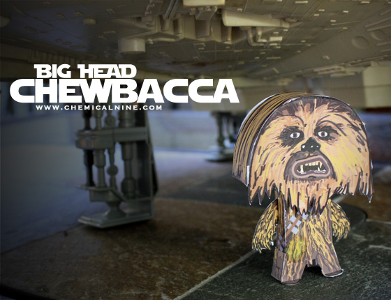 Papercraft imprimible y armable de Chewbacca. de Star Wars. Manualidades a Raudales.