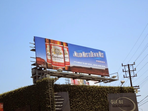 Budweiser Million Ways to Die in the West billboard