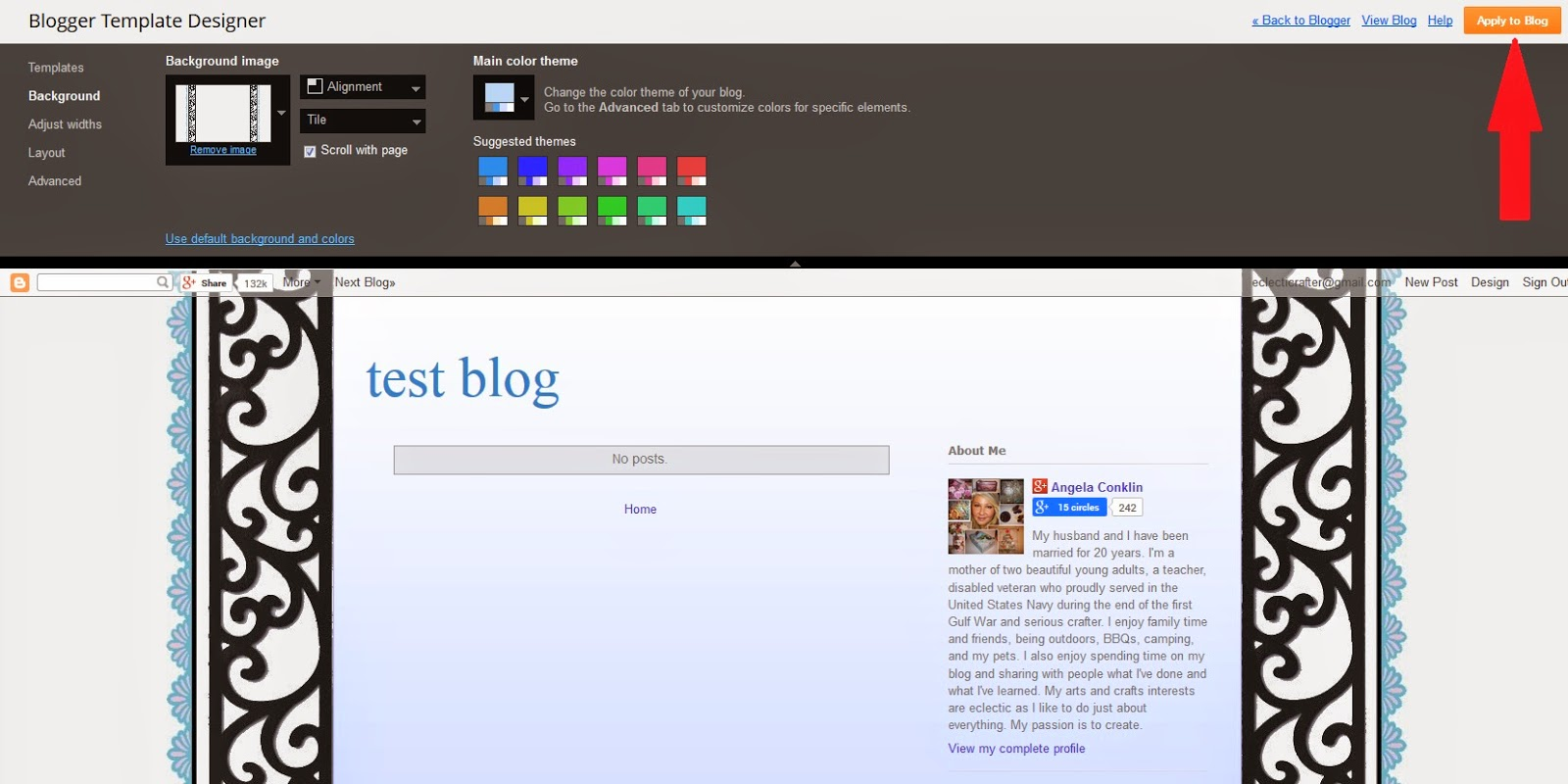 Upload Your New (Made by You) Background Image to Your Blog