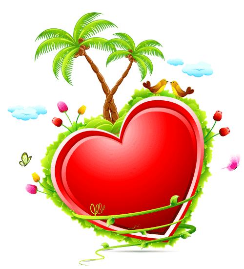 Tropical Heart Icon