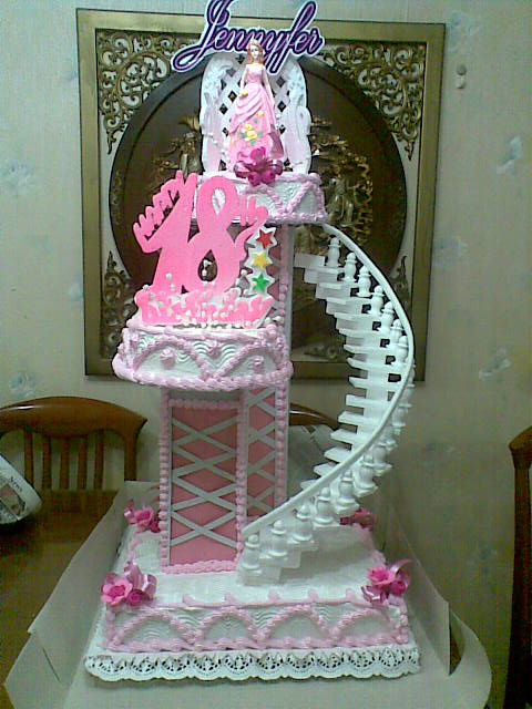 Debut Cake Design With Stairs : Eddy s Lair: THE BASIC CHIFFON CAKE RECIPE