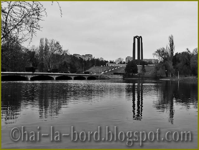 panorama alb-negru Parc Carol