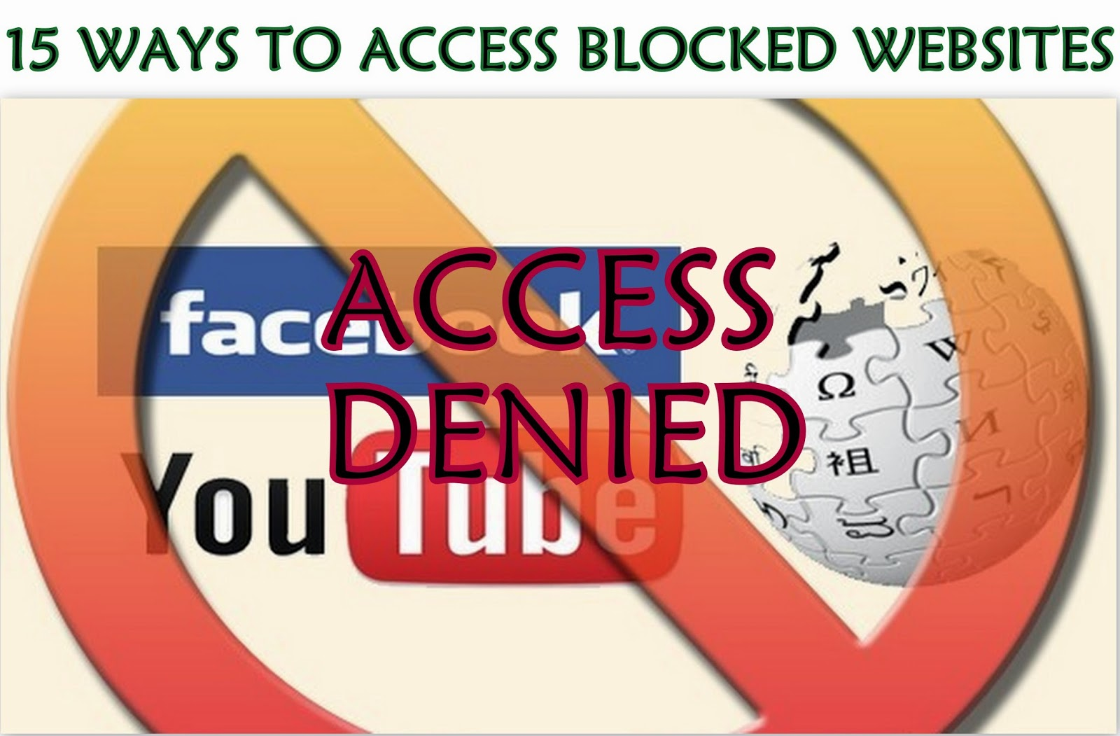 15 ways to access blocked websites techglut there are many ways to access blocked websites here are some of the ways to get access to the restricted and blocked websites ccuart Gallery