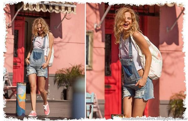 Doll FIns verano 2015 looks tendencia de moda verano 2015 con enteritos de jeans.