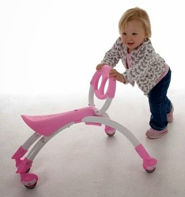 The Pewi provides a stable balance aid for early walking practice