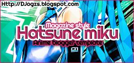 Hatsune Miku magazine style