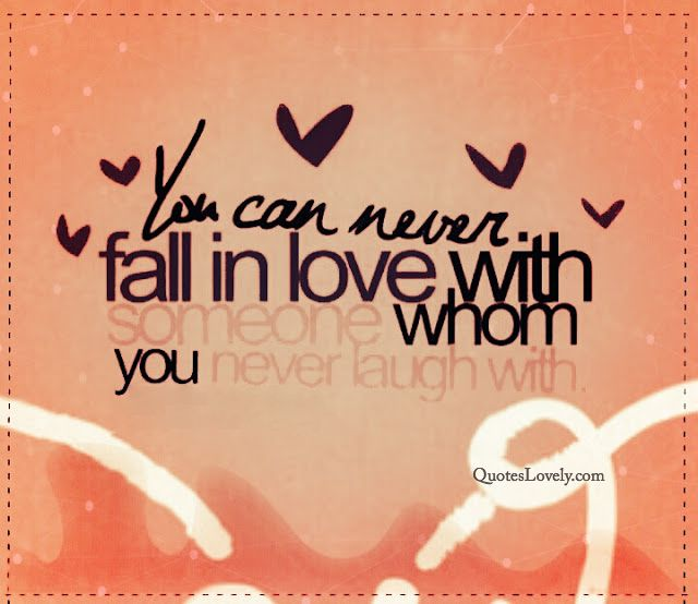 You can never fall in love