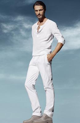 pantalón blanco hombre H&M