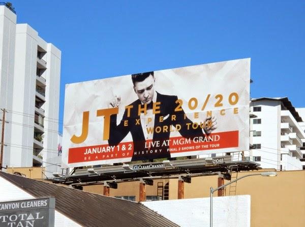 Justin Timberlake 2020 Tour billboard