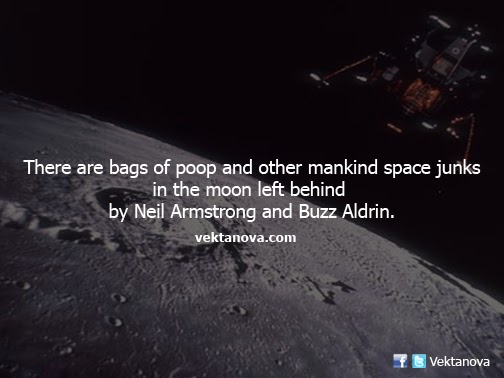 There are Bags of Poop in the Moon