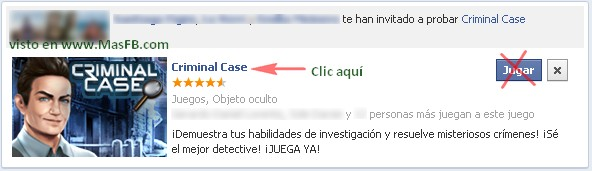 Criminal Case en Facebook