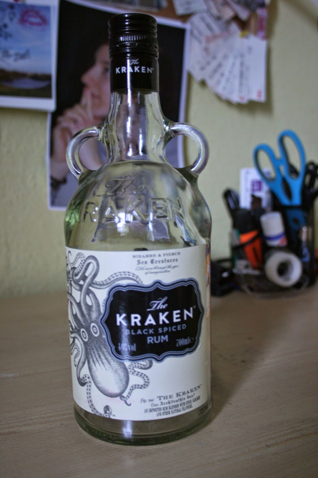 kraken rum bottle