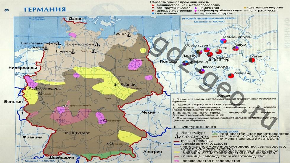 Контурная карта гермении 11класс