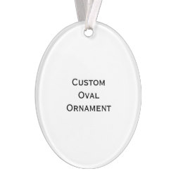 Custom Oval Photo Acrylic Christmas Ornament