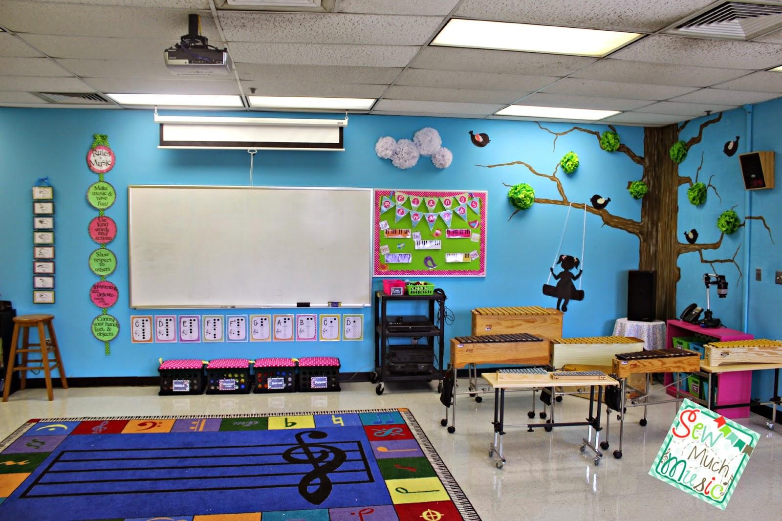 Elementary Classroom Setup ~ Sew much music my room set up
