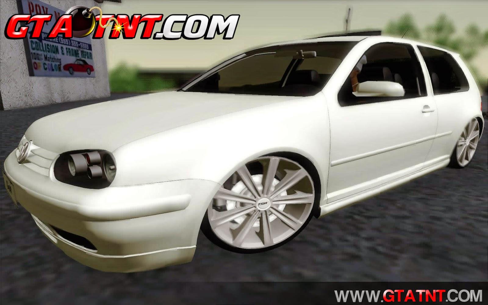 Vw Golf MKIV GTI VR6 2003 + TSW Devine para GTA San Andreas