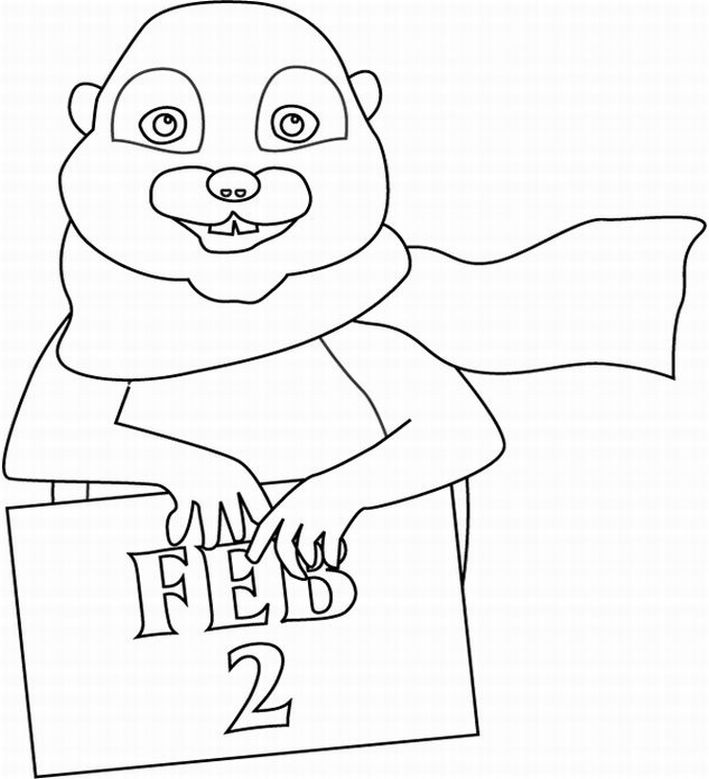 Groundhog Day Coloring Pages title=