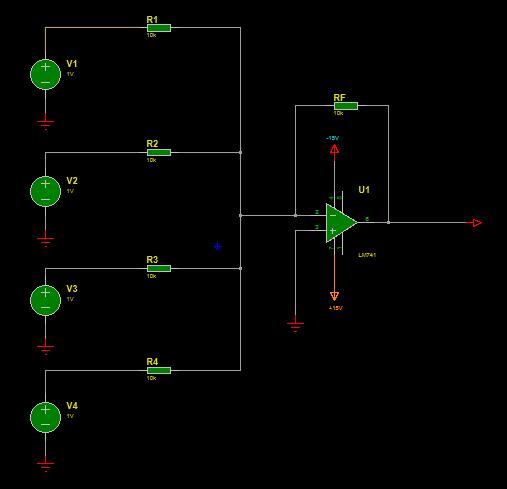 summing amplifier circuit