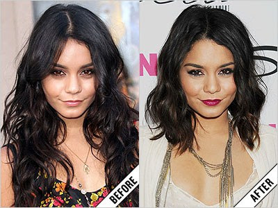 vanessa hudgens before and after makeover 11 amazing new celebrity makeovers 2011