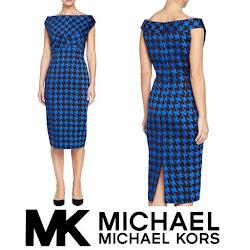 Queen Maxima Style MICHAEL KORS Dress CHRİSTİAN LOUBOUTİN Pumps
