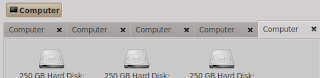 Tabbed browsing on file manager