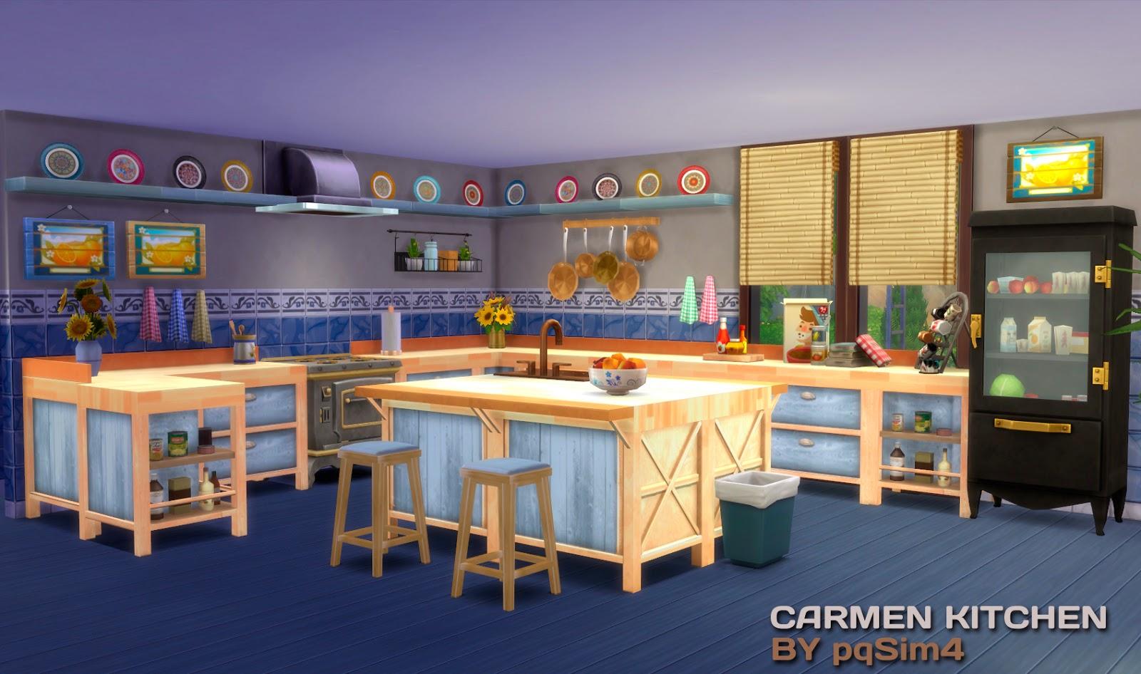 Sims 4 carmen kitchen - Isletas de cocina ...