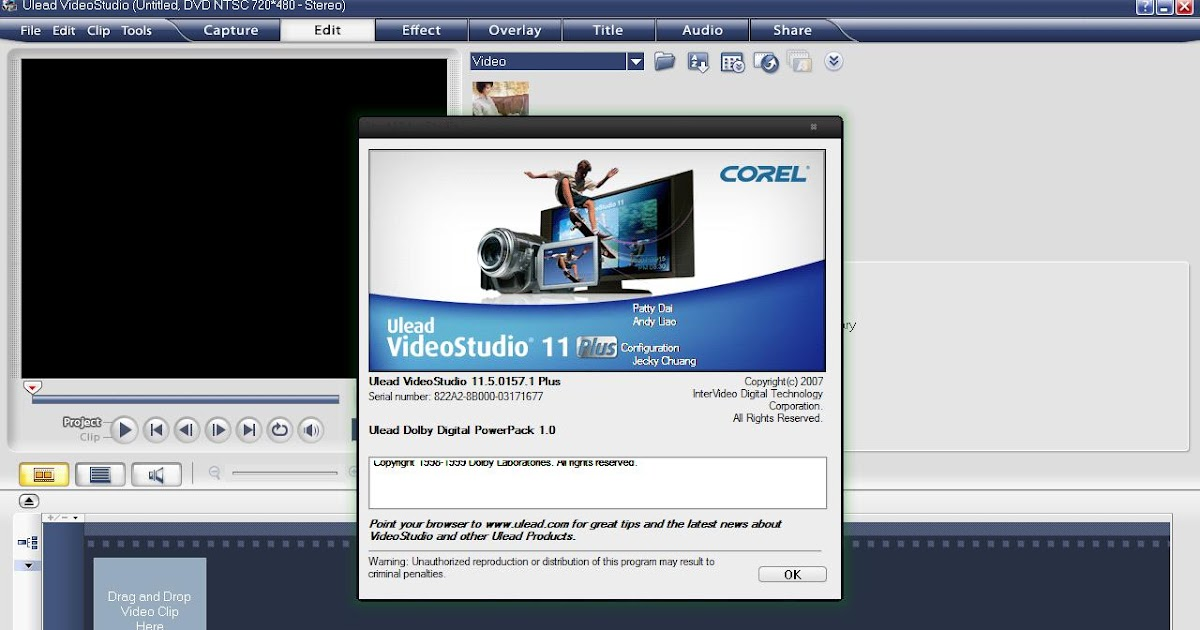 ulead video studio 11 free  with keygen crack