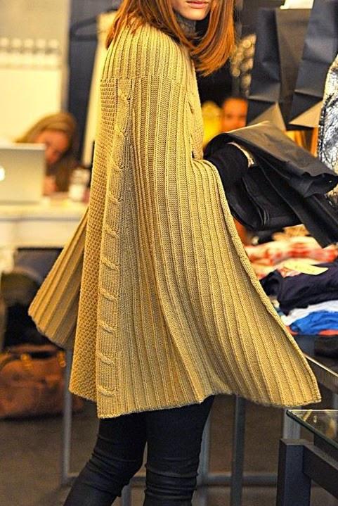 olivia palermo knit cape