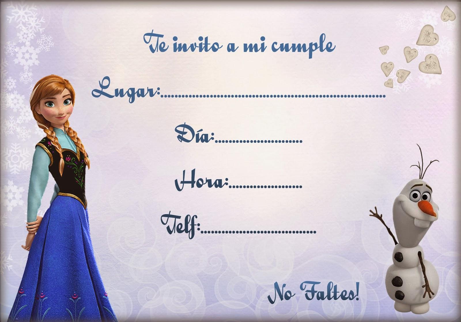 Frozen De Cumpleanos Para Imprimir Invitaciones Gratis