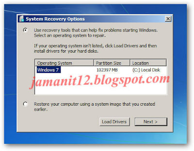 how to open system recovery options