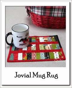 Jovial Mug Rug Free Tutorial at Freemotion by the River
