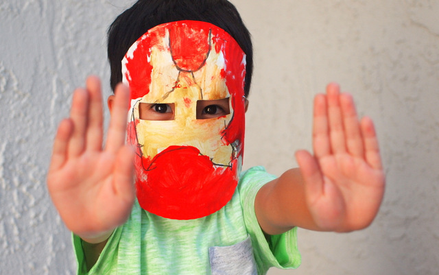 paper plate iron man craft for kids