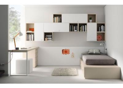 Dormitorio juvenil blanco y arema