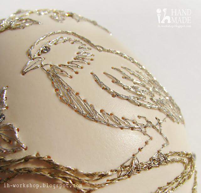 вышивка по яичной скорлупе