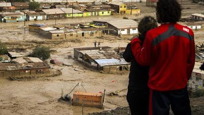 Graves inundaciones en Chile