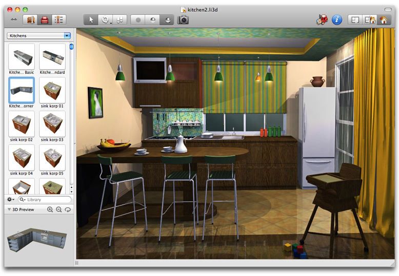 Interior design software Kitchen design software for beginners