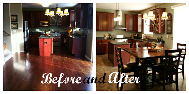 Kitchen Tour {Before and After} from Posh Pink Giraffe