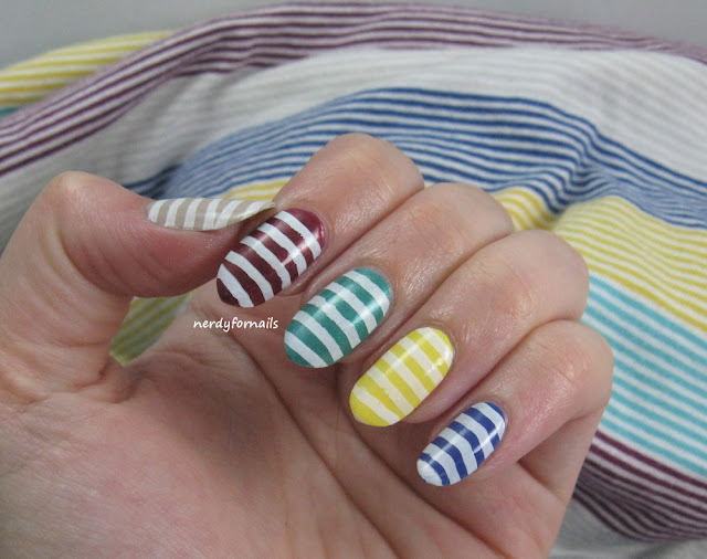 Summer Stripe Dress with Matching Nails