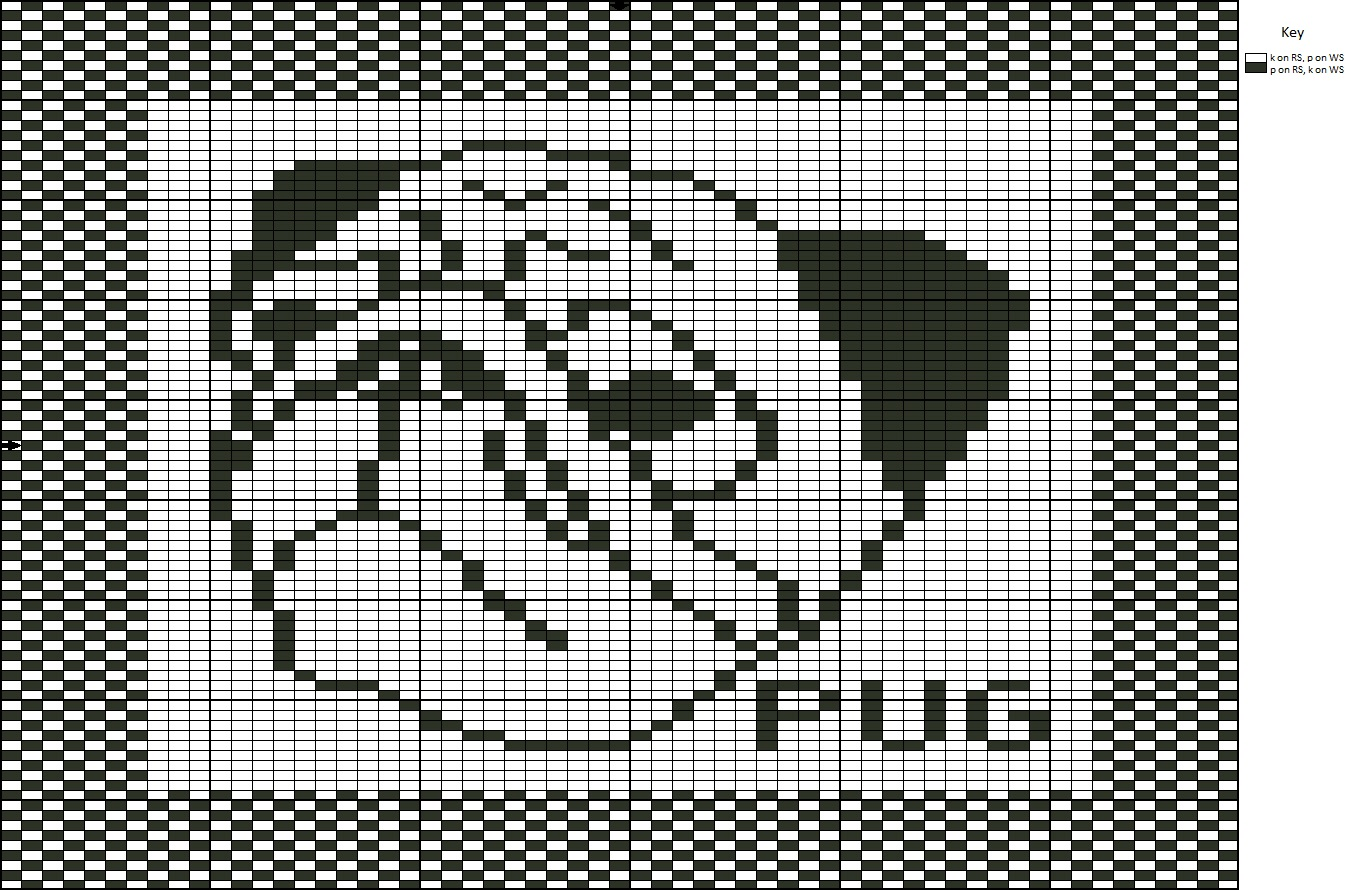 Knit one, Stitch one, Save one?: Free Pattern: Pug Dog Washcloth