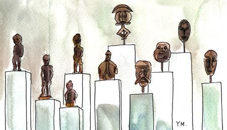 Dr. Maurice Girardin's African Art collection by Yukié Matsushita