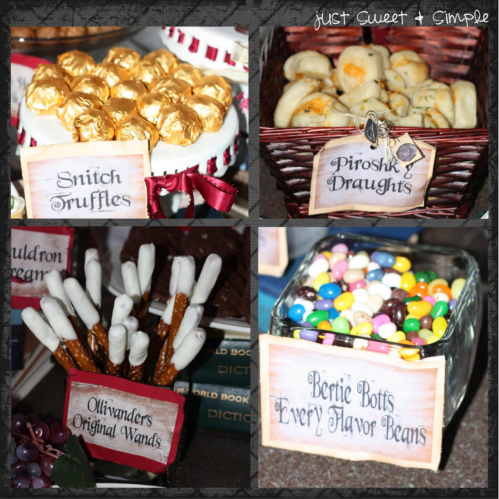 Just Sweet And Simple Harry Potter Party