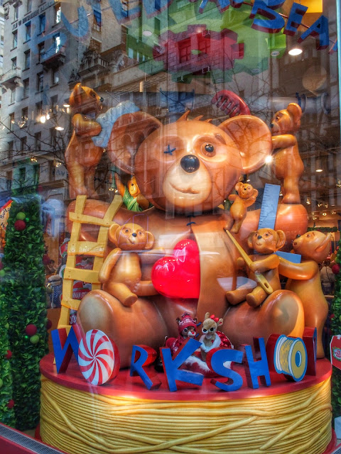 Heart Transplant, Build-a-Bear Workshop, 5th Avenue, Holiday Windows, NYC 2013