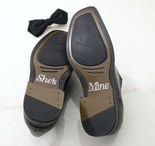 zapatos de novio con mensaje
