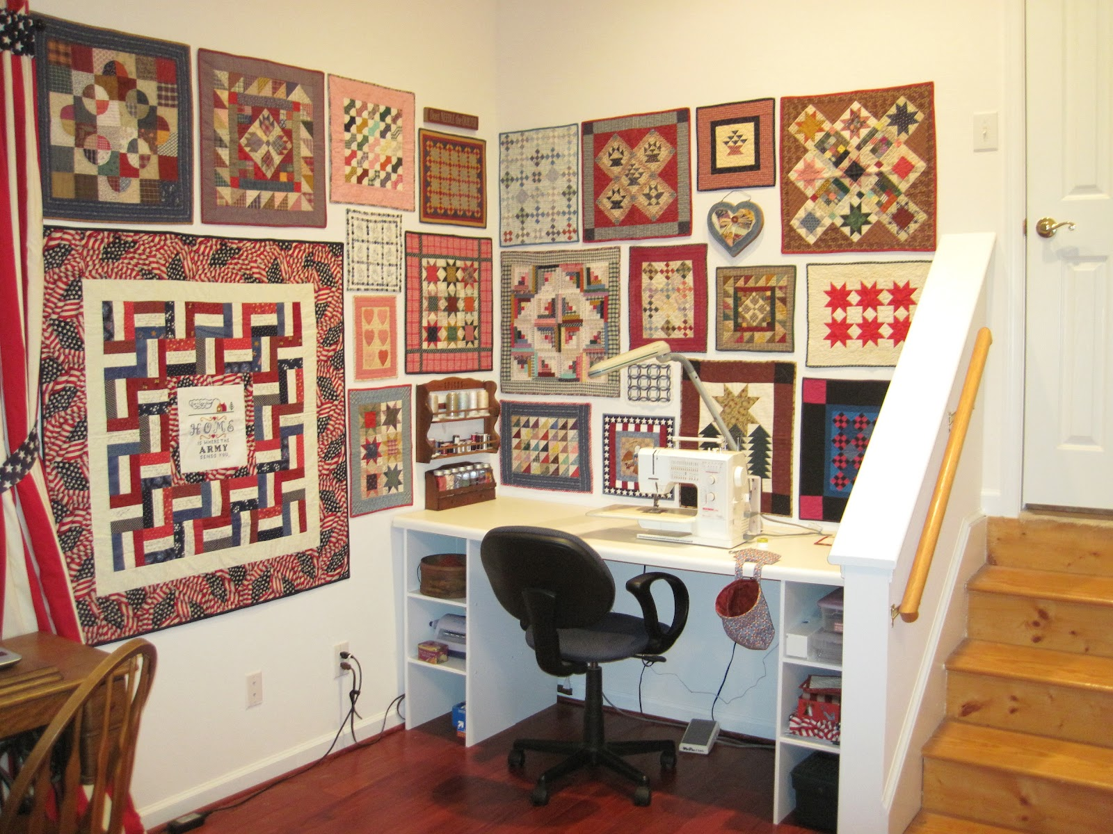 The Patriotic Quilter: It s Here--My New Quilting Room Reveal!