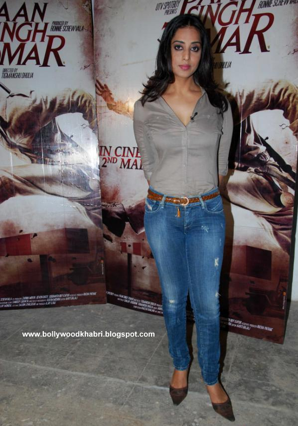 Mahie Gill  in Tank Top1 - Mahie Gill At Paan Singh Tomar Press Meet